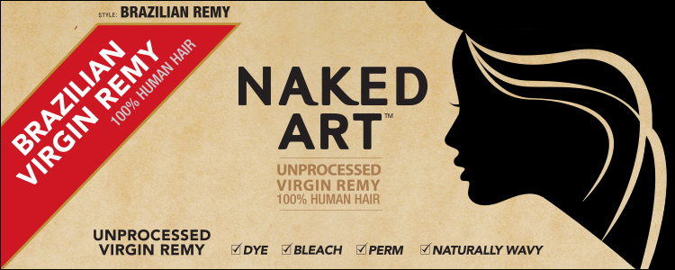 Unprocessed Brazilian Virgin Remy Naked Art