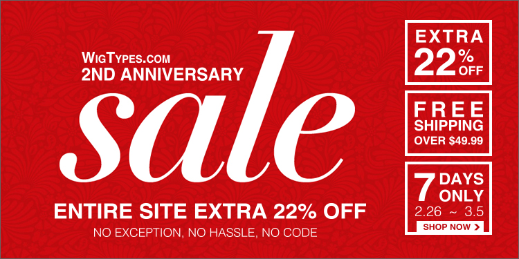 2nd Anniversary Sale : Entire Site EXTRA 22% OFF & FREE Shipping over $49.99