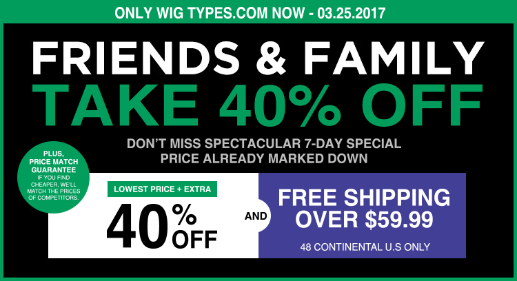 Friends & Family~ 7 Days Specials (Extra 40%) + FREE Shipping over $59.99