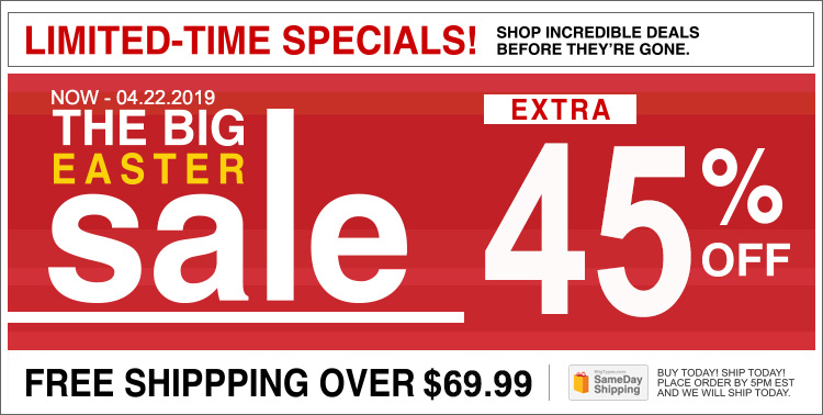 EXTRA 45% SALE + FREE Shipping over $69.99