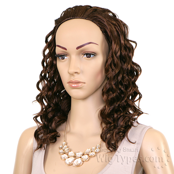 HZ 7047 BY SENSATIONNEL INSTANT WEAVE SYNTHETIC HALF WIG