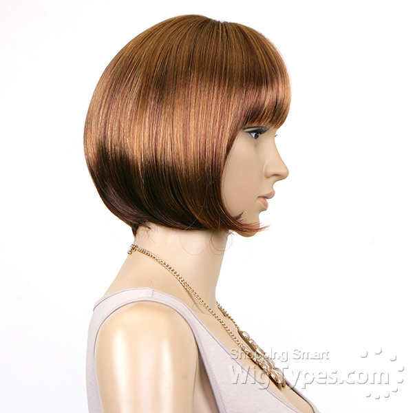 Janet collection synthetic full cap easy wig bang hair for Porte 4 cap janet