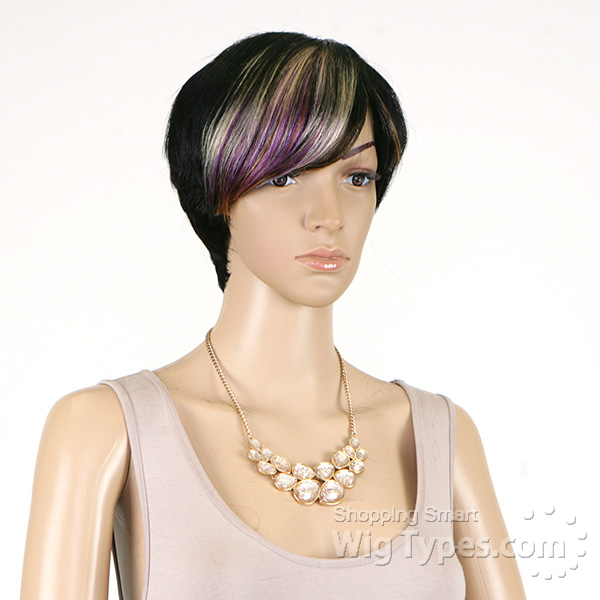 How to Rio wig purple lilac janet collection 100 % human hair wig rio ...