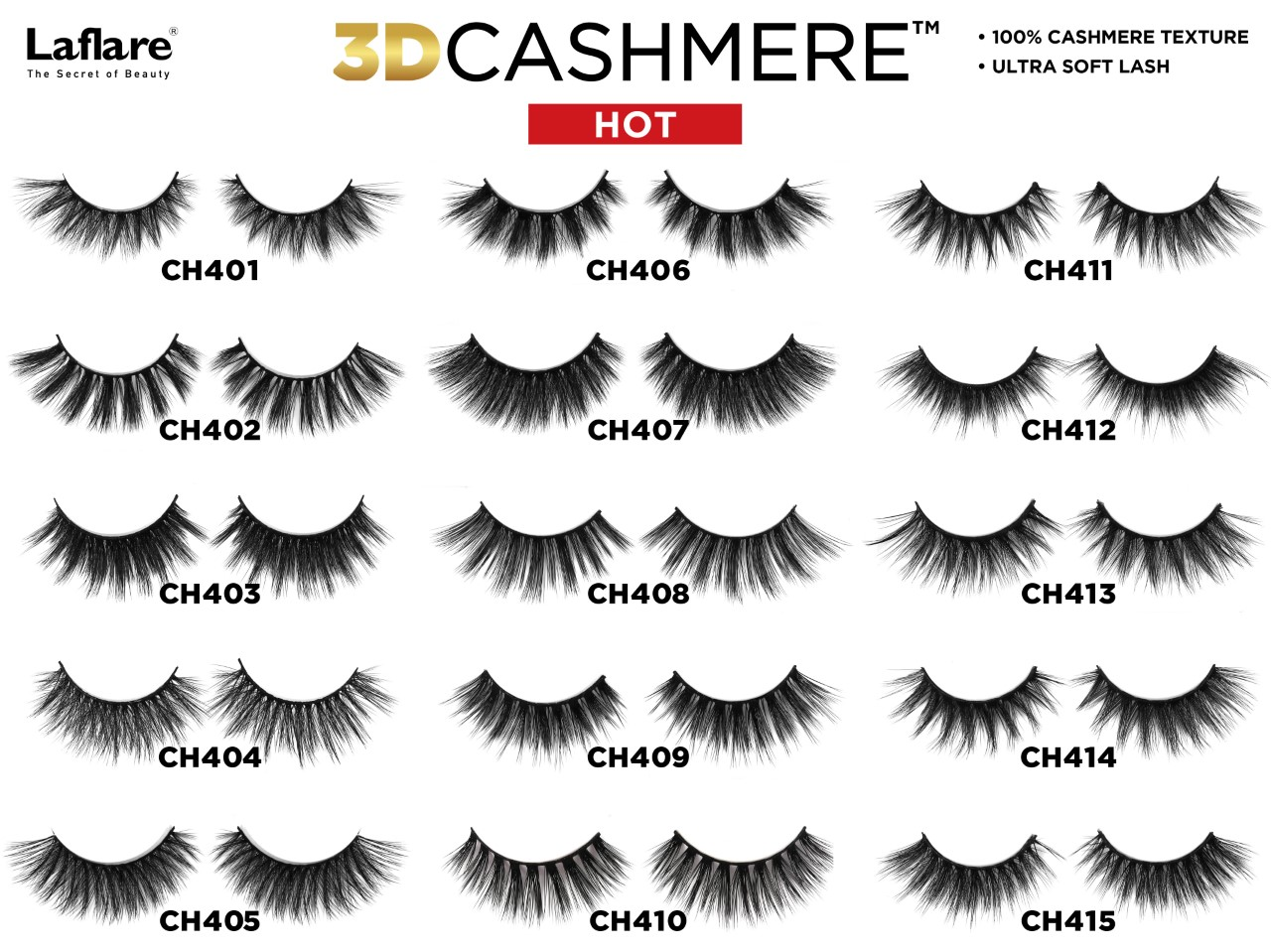 Laflare Eyelash 3D Cashmere Hot