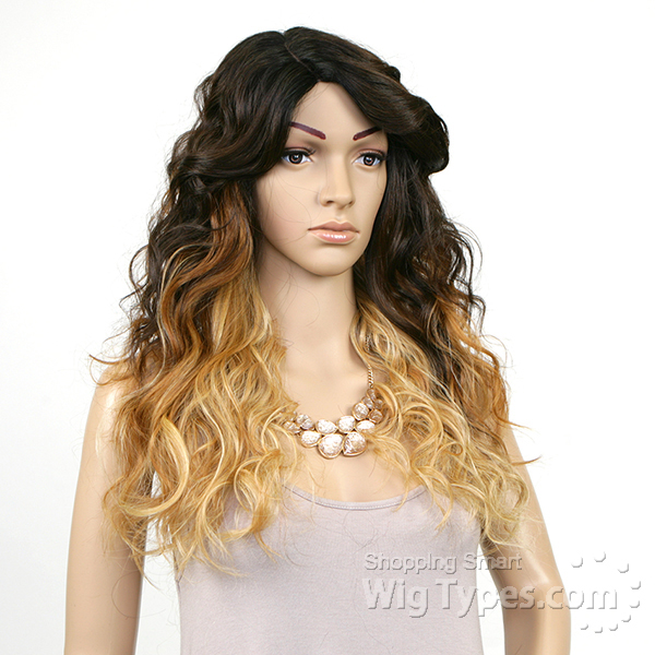 wig risque om701 model model deep invisible part lace front wig risque