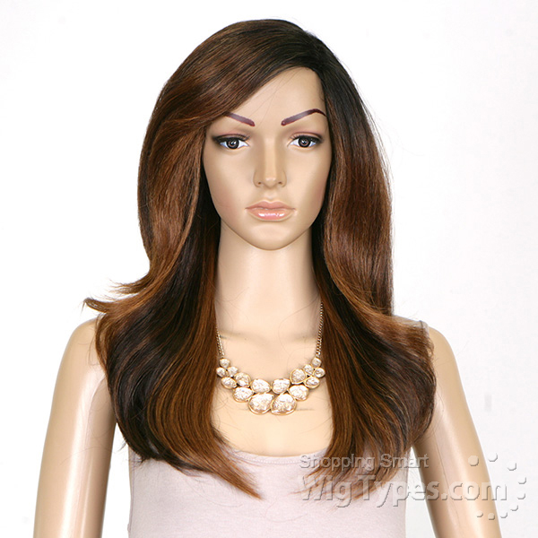 Model Model Synthetic Hair Deep Invisible L Part Wig Jinni