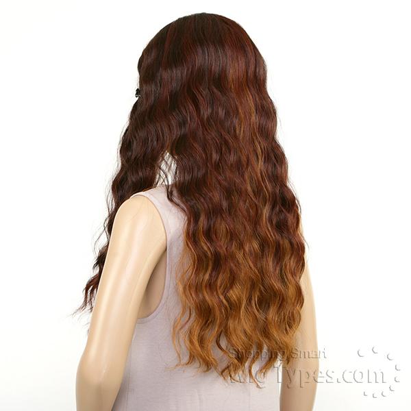 model model deep invisible l part wig long mori model