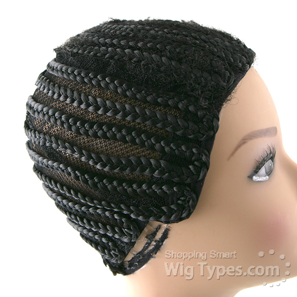 Crochet Braids On A Wig Cap : Freetress Synthetic Braided Cap - Color BLACK eBay