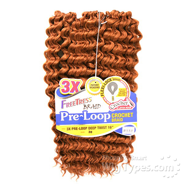 3x Pre Loop Crochet Deep Twist 16
