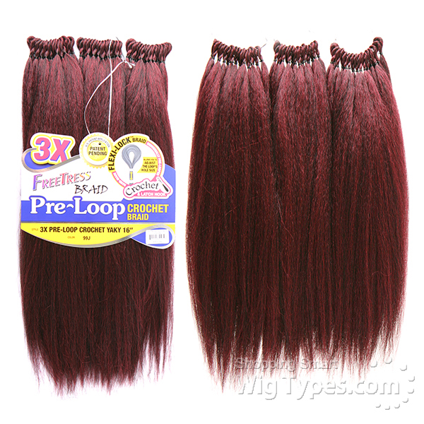 Crochet Hair With Loop : ... 3x pre loop crochet yaky braid 16 f b 3x pre loop crochet yaky 16