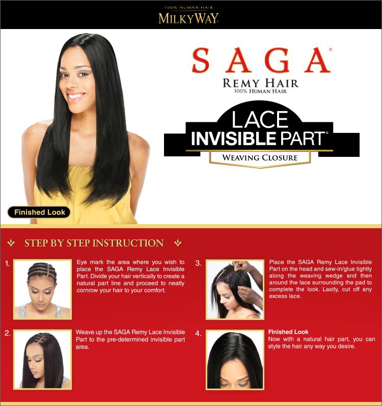 Saga Invisible Part Lace Closure