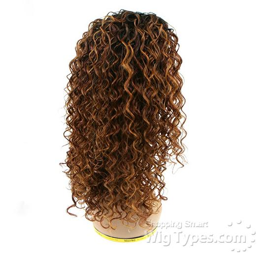 Milky Way Que Human Hair Blend Weave BEACH CURL 12