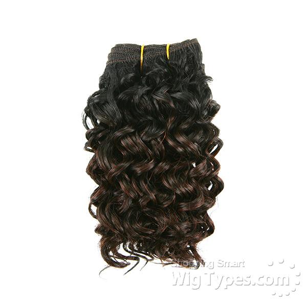 Milky Way Que Human Hair Blend Weave Short Cut Series Beach Curl