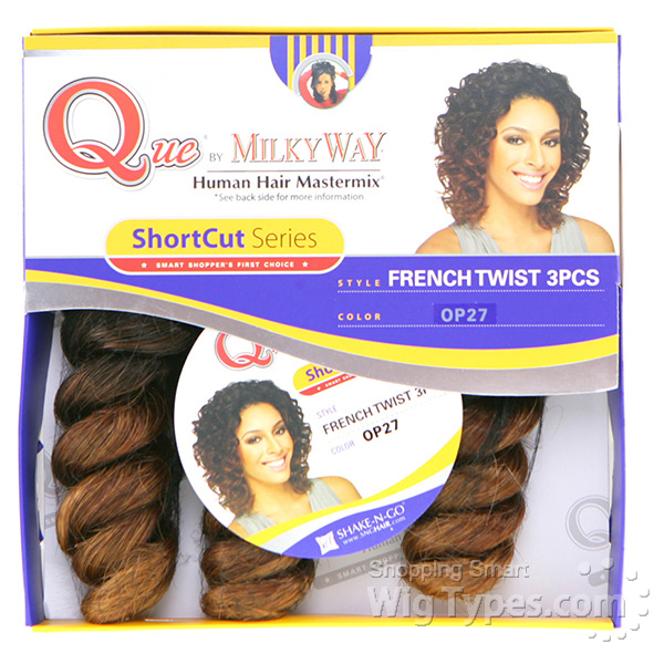 Milky way que human hair blend weave short cut series french viewslideshow pmusecretfo Image collections