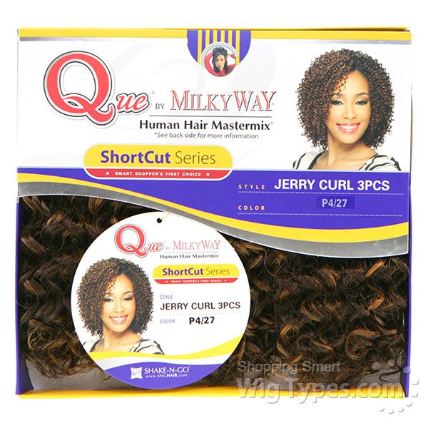 Milky way que human hair blend weave short cut series jerry curl viewslideshow pmusecretfo Image collections