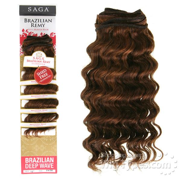 Milky Way Saga 100 Human Hair Weave Saga Brazilian Remy Deep Wave