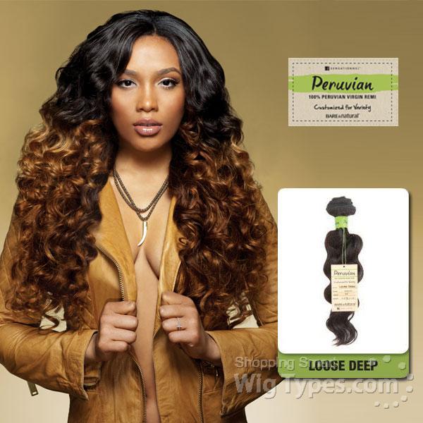 Sensationnel 100 Virgin Remi Bundle Hair Bare Natural Peruvian Loose Deep 16
