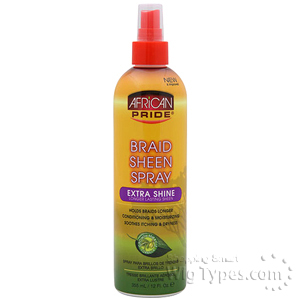 African Pride Braid Sheen Spray Extra Shine 12oz