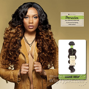 Sensationnel 100% Virgin Remi Bundle Hair Bare & Natural - Peruvian Loose Deep 16