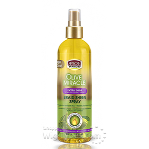 African Pride Olive Miracle Braid Sheen Spray Extra Shine 12oz