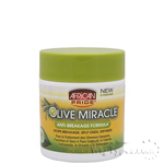 African Pride Olive Miracle Stops Breakage Split Ends Dryness 6oz