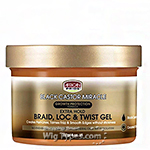 African Pride Black Castor Miracle Braid, Loc and Twist Gel 8oz