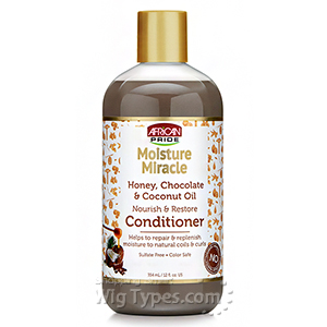 African Pride Moisture Miracle Honey, Chocolate & Coconut Oil Nourish & Restore Conditioner 12oz