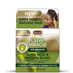 African Pride Olive Miracle Super Hold & Smooth Edges Hair Gel 2.25oz