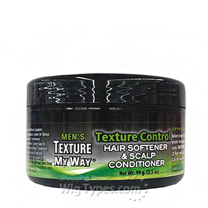 Africa's Best Men's Organics Texture Control Hair Softener & Scalp Conditioner 3.5oz