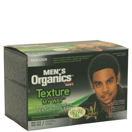 Africa S Best Men Organics Texture My Way Comb Thru Creme Texturizing Kit