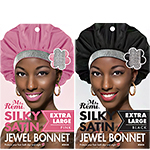 Annie Ms. Remi Silky Satin Jewel Bonnet Extra Large