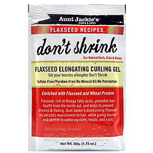 Aunt Jackie's Curls & Coils Flaxseed Recipes Don't Shrink Flaxseed Elongating Curling Gel 1.75oz