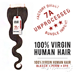 Sensationnel 100% Virgin Human Hair Bare & Natural - 7A 4X4 BODY WAVE LACE CLOSURE