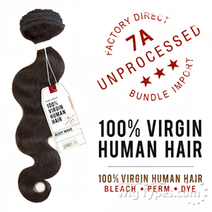 Sensationnel 100% Virgin Human Hair Bare & Natural - 7A BODY WAVE 10