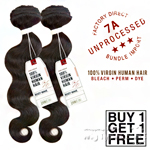 Sensationnel 100% Virgin Human Hair Bare & Natural - 7A BODY WAVE (Buy 1 Get 1 FREE)