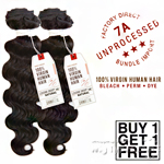 Sensationnel 100% Virgin Human Hair Bare & Natural - 7A LOOSE DEEP 10 (Buy 1 Get 1 FREE)