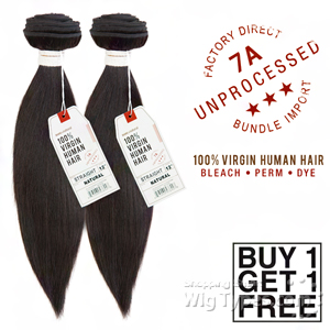 Sensationnel 100% Virgin Human Hair Bare & Natural - 7A YAKI STRAIGHT 14 (Buy 1 Get 1 FREE)