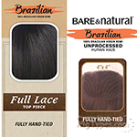 Sensationnel 100% Virgin Remi Bundle Hair Bare & Natural - SILK FULL LACE TOP 4 X 4 WAVY 12
