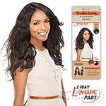 Sensationnel 100% Brazilian Virgin Remi Bare & Natural L Part Lace Front Wig - NATURAL WAVY