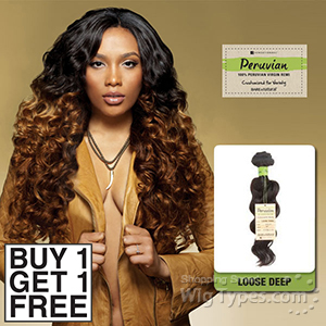 Sensationnel 100% Virgin Remi Bundle Hair Bare & Natural - Peruvian Loose Deep 14 (Buy 1 Get 1 FREE)