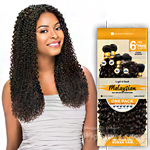 Sensationnel 100% Malaysian Virgin Remi Bundle Hair Bare & Natural - Cork Screw 1pk (12/12/14/14/16/16 + Closure)