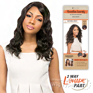 Sensationnel 100% Brazilian Virgin Remi Bare & Natural L Part Lace Front Wig - NATURAL LOOSE DEEP