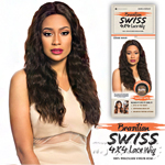 Sensationnel 100% Brazilian Virgin Remi Bare & Natural 4x4 Swiss Lace Wig - LOOSE WAVE