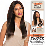 Sensationnel 100% Brazilian Virgin Remi Bare & Natural 4x4 Swiss Lace Wig - NATURAL YAKI