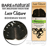 Sensationnel 100% Virgin Remi Bundle Hair Bare & Natural Peruvian Lace Closure - BOHEMIAN 10