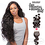 Sensationnel 100% Virgin Bare & Natural Lace Closure + Bundle Deal - BODY WAVE 14,16,18 (Full 4x4 Lace Closure With Bundles)
