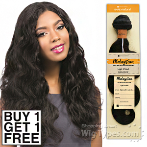 Sensationnel 100% MALAYSIAN Virgin Remi Bundle Hair Bare & Natural - BODY WAVE 14(Buy 1 Get 1 FREE)
