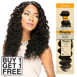 Sensationnel 100% MALAYSIAN Virgin Remi Bundle Hair Bare & Natural - EURO DEEP  (Buy 1 Get 1 FREE)
