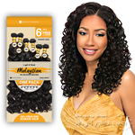 Sensationnel 100% Malaysian Virgin Remi Bundle Hair Bare & Natural - OCEAN CURL 1pk (16/16/18/18/20/20 + Closure)