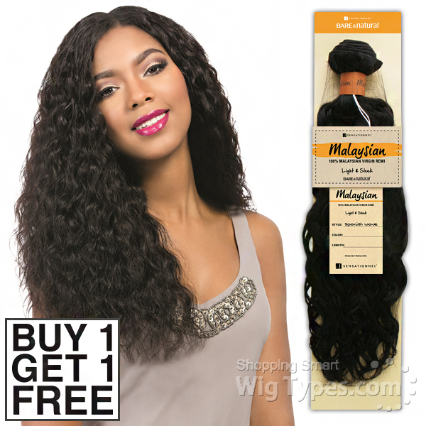 Sensationnel 100 Malaysian Virgin Remi Bundle Hair Bare Natural